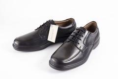Αρσενικά καφετιά και μπλε παπούτσια Στοκ Εικόνες