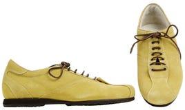 Αρσενικές μπότες με τις δαντέλλες στοκ φωτογραφίες με δικαίωμα ελεύθερης χρήσης