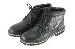 Αρσενικές χειμερινές μπότες Στοκ Εικόνα