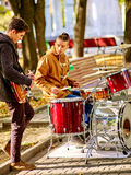 Αρσενική απόδοση των μουσικών οδών Στοκ Φωτογραφία