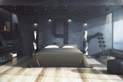 Αρσενική κρεβατοκάμαρα, κατοικημένη έννοια διανυσματική απεικόνιση