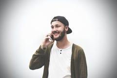 Αρσενική μοντέρνη έννοια εμπιστοσύνης Hipster ατόμων ατόμων χαμόγελου Στοκ φωτογραφίες με δικαίωμα ελεύθερης χρήσης