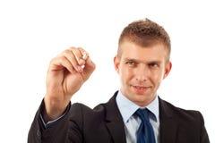 αρσενική πέννα χεριών έτοιμη  Στοκ Φωτογραφία
