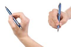 αρσενική πέννα χεριών Στοκ φωτογραφία με δικαίωμα ελεύθερης χρήσης