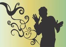αρσενική σκιαγραφία Στοκ φωτογραφίες με δικαίωμα ελεύθερης χρήσης