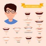 Αρσενική στοματική ζωτικότητα Στοματικό διάγραμμα φωνήματος Prononciation αλφάβητου Απεικόνιση αποθεμάτων