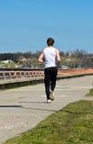 αρσενική τρέχοντας ακτή Στοκ εικόνες με δικαίωμα ελεύθερης χρήσης