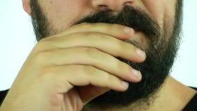 Αρσενική χειρονομία προσώπου απόθεμα βίντεο