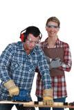 Αρσενικοί και θηλυκοί ξυλουργοί Στοκ φωτογραφία με δικαίωμα ελεύθερης χρήσης