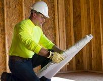 Αρσενικός εργάτης οικοδομών Στοκ Φωτογραφία