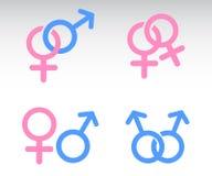 Αρσενικός και θηλυκός συνδυασμός συμβόλων Στοκ φωτογραφία με δικαίωμα ελεύθερης χρήσης