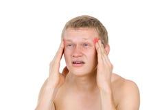 Αρσενικός κορμός, πονοκέφαλος Στοκ φωτογραφίες με δικαίωμα ελεύθερης χρήσης