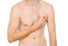 Αρσενικός κορμός, πόνος στην καρδιά μου Στοκ εικόνες με δικαίωμα ελεύθερης χρήσης