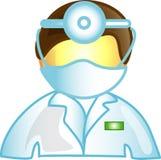 αρσενικός κτηνίατρος εικονιδίων γιατρών Στοκ εικόνα με δικαίωμα ελεύθερης χρήσης