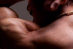 αρσενικός μυϊκός ώμος Στοκ Εικόνες
