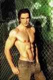 αρσενικός πρότυπος shirtless μόδα Στοκ εικόνες με δικαίωμα ελεύθερης χρήσης