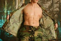 αρσενικός στρατιωτικός Στοκ Εικόνες