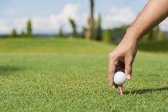 Αρσενικός συνοδός παίχτη γκολφ Στοκ φωτογραφίες με δικαίωμα ελεύθερης χρήσης