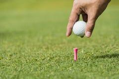 Αρσενικός συνοδός παίχτη γκολφ Στοκ εικόνες με δικαίωμα ελεύθερης χρήσης