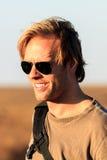 Αρσενικός τουρίστας απογεύματος Στοκ εικόνες με δικαίωμα ελεύθερης χρήσης