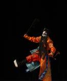 """Αρσενικός χαρακτήρας στην κινεζική όπερα με ένα τους χρωματισμένους στρατηγούς γυναικών του Πεκίνου Opera"""" προσώπου Yang Family Στοκ Φωτογραφία"""