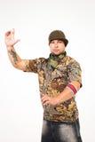 Αρσενικός χορευτής χιπ χοπ Στοκ εικόνα με δικαίωμα ελεύθερης χρήσης