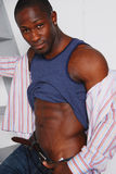 αρσενικό αφροαμερικάνων στοκ φωτογραφία με δικαίωμα ελεύθερης χρήσης