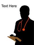 αρσενικό γράψιμο γιατρών ελεύθερη απεικόνιση δικαιώματος