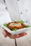 αρσενικό εστιατόριο αρχιμαγείρων στοκ εικόνες