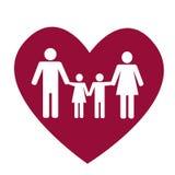 Οικογένεια και καρδιά Στοκ Εικόνες