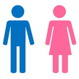 Αρσενικό και θηλυκό σημάδι Στοκ εικόνα με δικαίωμα ελεύθερης χρήσης