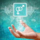 Αρσενικό και θηλυκό σύμβολο σε ετοιμότητα Στοκ Εικόνες