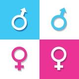 Αρσενικό και θηλυκό σύμβολο Στοκ φωτογραφίες με δικαίωμα ελεύθερης χρήσης