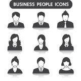 Αρσενικό και θηλυκό σύνολο εικονιδίων επιχειρηματιών Στοκ Φωτογραφία