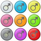 αρσενικό κουμπιών Στοκ εικόνες με δικαίωμα ελεύθερης χρήσης