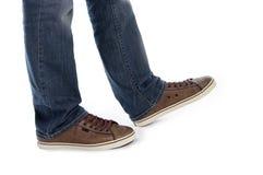 αρσενικό λευκό περπατήματος ποδιών Στοκ Εικόνα