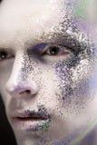 Αρσενικό με τη δημιουργική σύνθεση Στοκ Φωτογραφίες