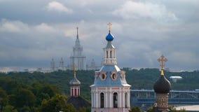 Αρσενικό μοναστήρι Andreevsky θόλων απόθεμα βίντεο