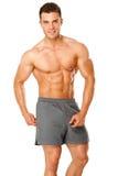 αρσενικό μυϊκό λευκό πορτρέτου αθλητών Στοκ εικόνες με δικαίωμα ελεύθερης χρήσης