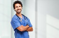 Αρσενικό πορτρέτο νοσοκόμων Στοκ εικόνα με δικαίωμα ελεύθερης χρήσης