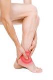 Αρσενικό πόδι, τακούνι, πόδια Στοκ φωτογραφία με δικαίωμα ελεύθερης χρήσης