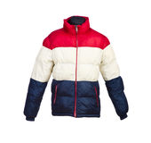 Αρσενικό σακάκι που απομονώνεται χειμερινό Στοκ Εικόνες