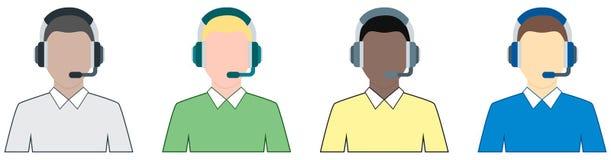 Αρσενικό υποστηρικτών - τέσσερα που χρωματίζονται Στοκ φωτογραφία με δικαίωμα ελεύθερης χρήσης