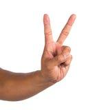 Αρσενικό χέρι που απομονώνεται σε ένα άσπρο υπόβαθρο Στοκ φωτογραφίες με δικαίωμα ελεύθερης χρήσης