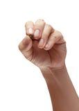 Αρσενικό χέρι τη μάνδρα που απομονώνεται με στοκ εικόνες