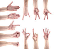 Αρσενικό χέρι χειρονομίας Στοκ φωτογραφίες με δικαίωμα ελεύθερης χρήσης
