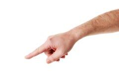αρσενικό χεριών που δείχν&ep Στοκ Φωτογραφίες