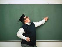 Αρσενικό nerd στην εκστατική διάθεση Στοκ Φωτογραφίες