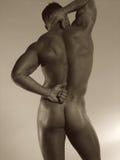 αρσενικό nude οπίσθιο τμήμα Στοκ φωτογραφία με δικαίωμα ελεύθερης χρήσης