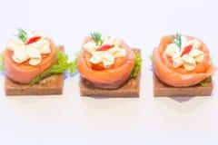 Αρτοποιείο καναπεδάκια Στοκ εικόνα με δικαίωμα ελεύθερης χρήσης